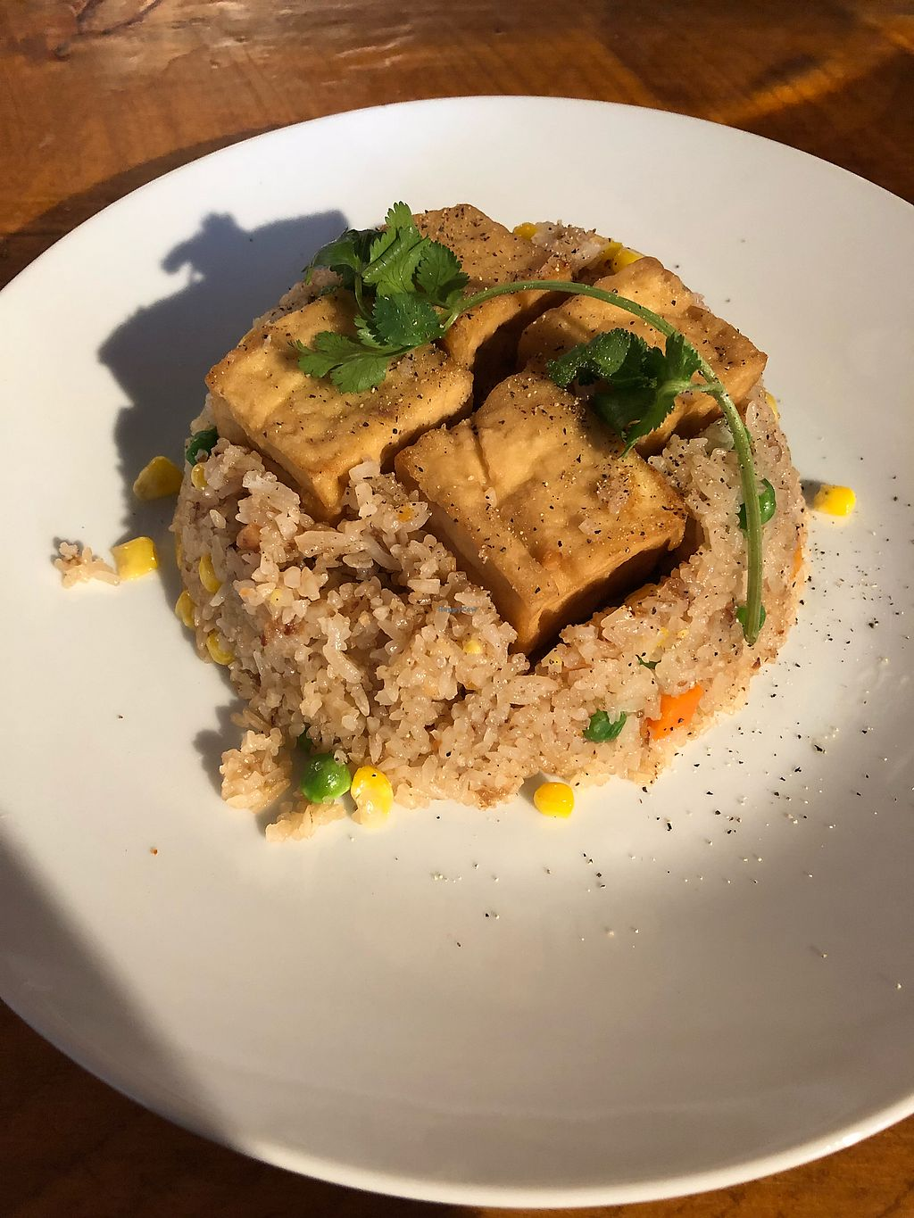 "Photo of Peak of Asia  by <a href=""/members/profile/AshleyJoNix"">AshleyJoNix</a> <br/>Tofu fried rice no egg <br/> January 19, 2018  - <a href='/contact/abuse/image/108719/348412'>Report</a>"