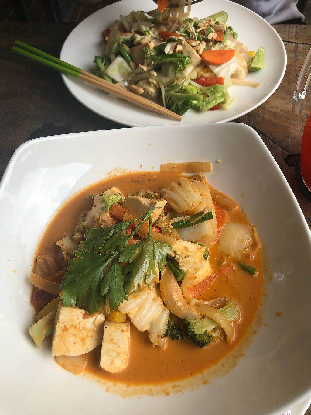 "Photo of Seed to Feed  by <a href=""/members/profile/VeganTraveler5"">VeganTraveler5</a> <br/>A tofu curry and a Pad Thai  <br/> January 11, 2018  - <a href='/contact/abuse/image/108745/345245'>Report</a>"