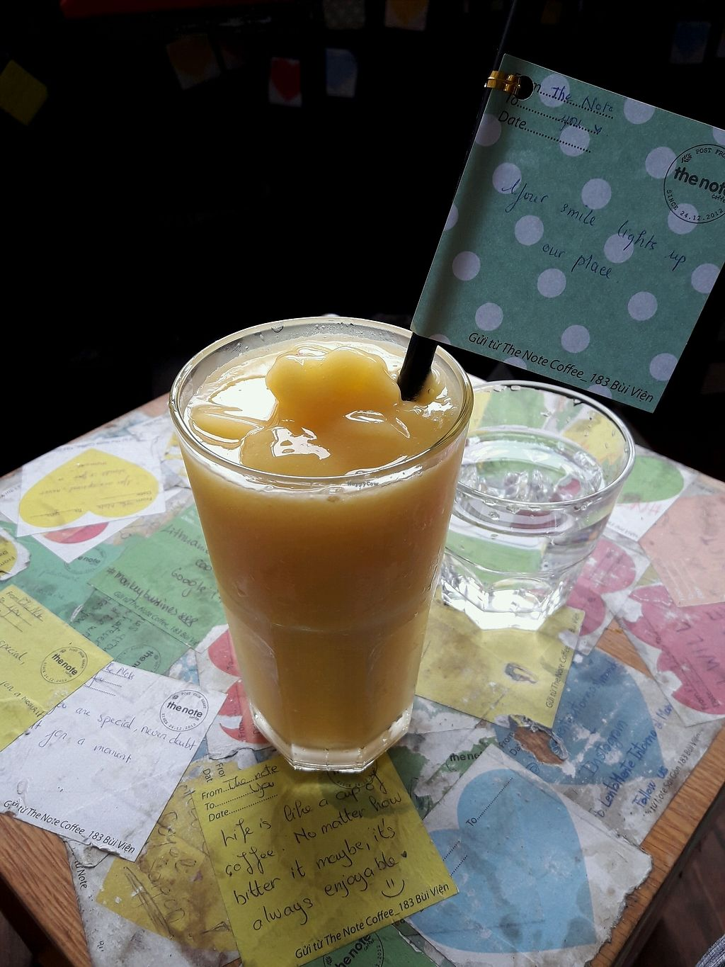 """Photo of The Note Coffee  by <a href=""""/members/profile/FineGiebler"""">FineGiebler</a> <br/>Orange & mango smoothie <br/> February 3, 2018  - <a href='/contact/abuse/image/108749/354489'>Report</a>"""