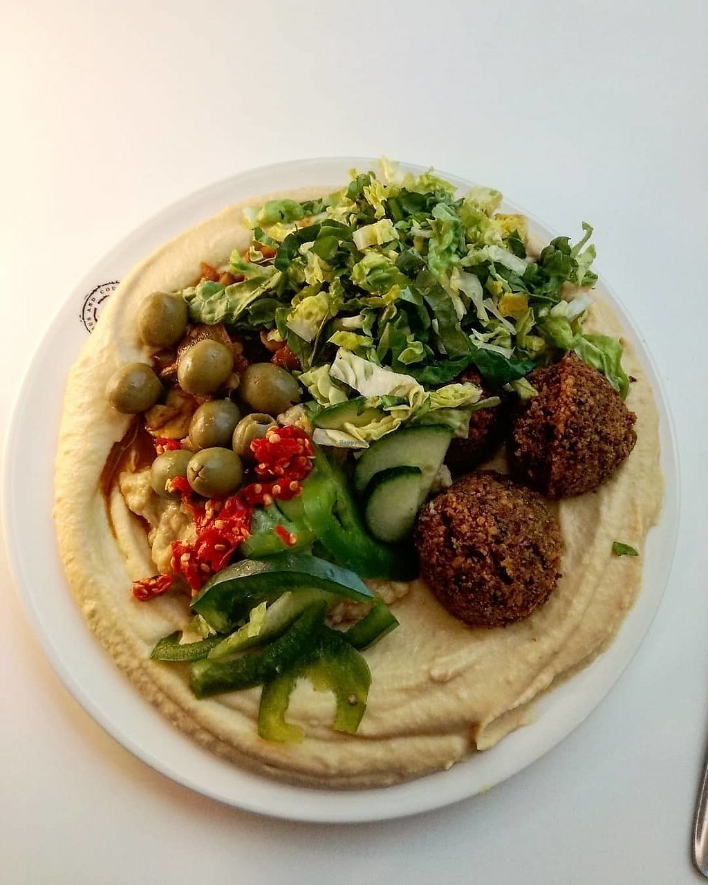 """Photo of Hummus and Couscous Bar - Petržalka  by <a href=""""/members/profile/ZdeNka"""">ZdeNka</a> <br/>vegetarian mix hummus <br/> February 24, 2018  - <a href='/contact/abuse/image/108755/363172'>Report</a>"""