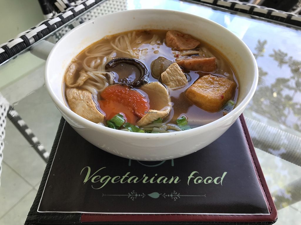 """Photo of Phap Duyen Mon An Chay  by <a href=""""/members/profile/kezia"""">kezia</a> <br/>Incredible vegan pho!! Best in Mui Ne  <br/> January 7, 2018  - <a href='/contact/abuse/image/108756/343923'>Report</a>"""