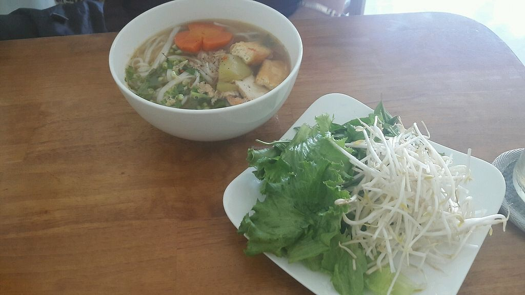 """Photo of Phap Duyen Mon An Chay  by <a href=""""/members/profile/Bintje"""">Bintje</a> <br/>Vegan Pho <br/> April 11, 2018  - <a href='/contact/abuse/image/108756/383837'>Report</a>"""