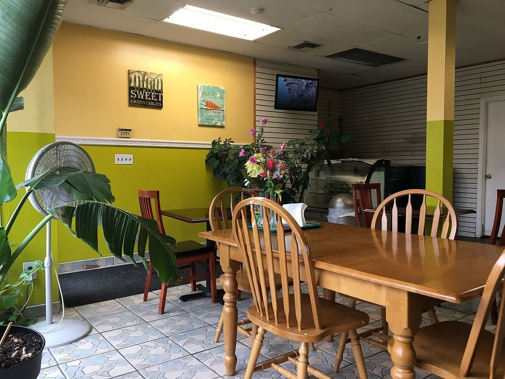 """Photo of Caribreeze Vegetarian Cafe  by <a href=""""/members/profile/JJones315"""">JJones315</a> <br/>Interior  <br/> September 9, 2017  - <a href='/contact/abuse/image/10875/302626'>Report</a>"""