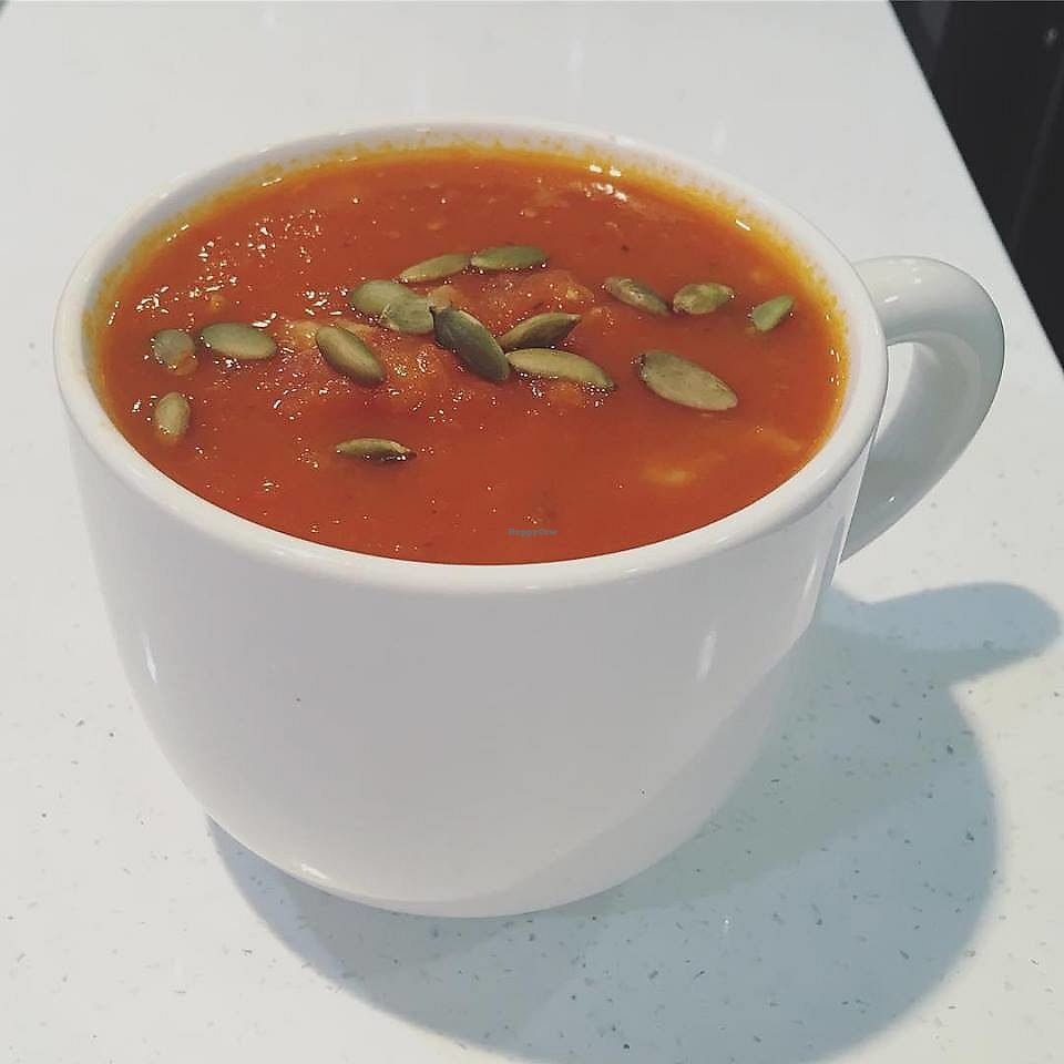"""Photo of Three Ladies Cafe  by <a href=""""/members/profile/community5"""">community5</a> <br/>Roasted tomato soup <br/> January 21, 2018  - <a href='/contact/abuse/image/108789/349526'>Report</a>"""