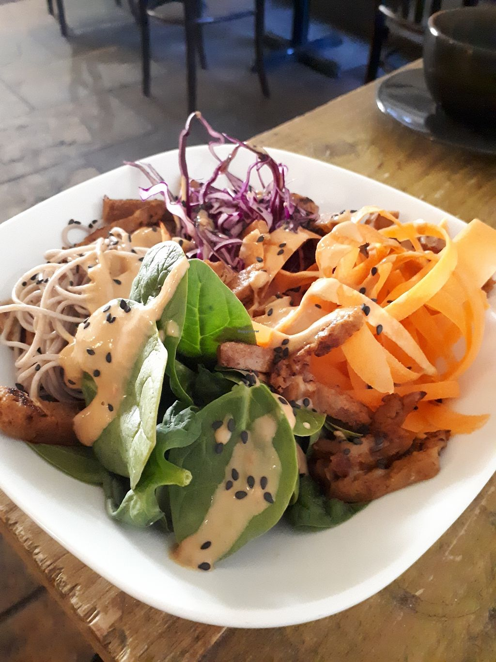 """Photo of Seeds for the Soul  by <a href=""""/members/profile/Huffapuffalo"""">Huffapuffalo</a> <br/>Seitan salad bowl <br/> March 9, 2018  - <a href='/contact/abuse/image/108790/368613'>Report</a>"""