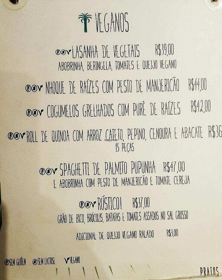 "Photo of Casa Graviola - Leblon  by <a href=""/members/profile/Anna%20do%20Rio"">Anna do Rio</a> <br/>vegan menu <br/> January 12, 2018  - <a href='/contact/abuse/image/108823/345645'>Report</a>"