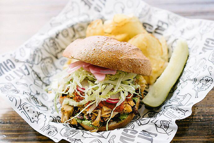 "Photo of Even Stevens Sandwiches  by <a href=""/members/profile/SMontano17"">SMontano17</a> <br/>Jackfruit Torta <br/> January 7, 2018  - <a href='/contact/abuse/image/108829/344032'>Report</a>"