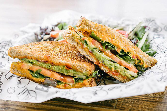 "Photo of Even Stevens Sandwiches  by <a href=""/members/profile/SMontano17"">SMontano17</a> <br/>Hummazing Vegan Sandwich  <br/> January 7, 2018  - <a href='/contact/abuse/image/108829/344033'>Report</a>"