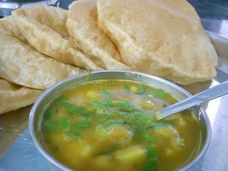 "Photo of Lumbini Sat Saheb Pure Vegetarian Food  by <a href=""/members/profile/Masala-Dosa"">Masala-Dosa</a> <br/>Puri Tarkari <br/> January 7, 2018  - <a href='/contact/abuse/image/108849/343819'>Report</a>"