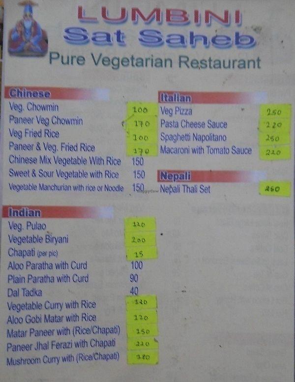 "Photo of Lumbini Sat Saheb Pure Vegetarian Food  by <a href=""/members/profile/Masala-Dosa"">Masala-Dosa</a> <br/>menu <br/> January 7, 2018  - <a href='/contact/abuse/image/108849/343824'>Report</a>"