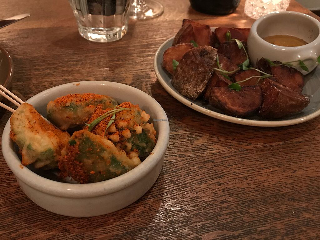 """Photo of Casita Andina  by <a href=""""/members/profile/Rowse"""">Rowse</a> <br/>Avocado fritters (ok) and veg chips (amazing!) <br/> February 20, 2018  - <a href='/contact/abuse/image/108863/361785'>Report</a>"""