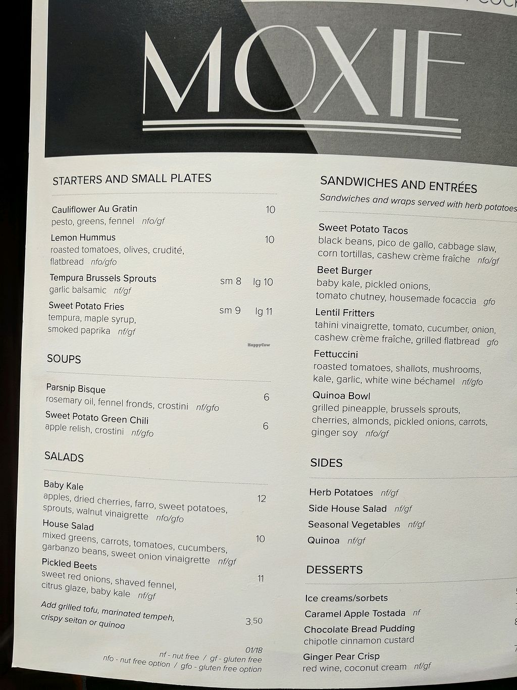 """Photo of Moxie  by <a href=""""/members/profile/zenmaestro"""">zenmaestro</a> <br/>lunch menu <br/> January 25, 2018  - <a href='/contact/abuse/image/108879/350897'>Report</a>"""