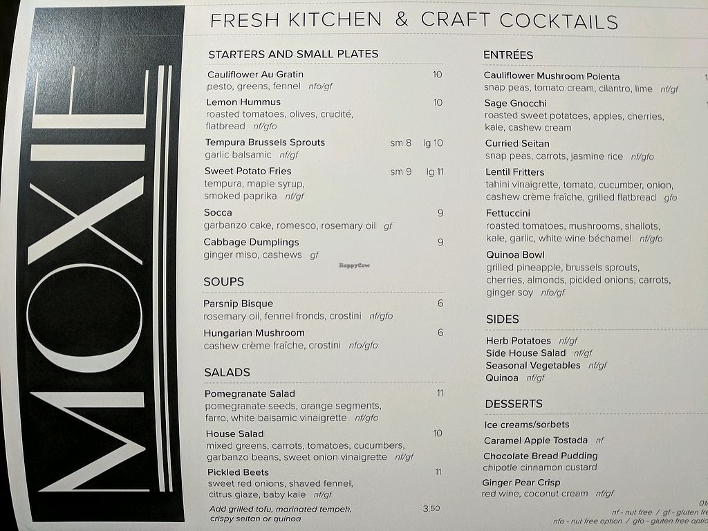 """Photo of Moxie  by <a href=""""/members/profile/zenmaestro"""">zenmaestro</a> <br/>dinner menu <br/> January 25, 2018  - <a href='/contact/abuse/image/108879/350898'>Report</a>"""