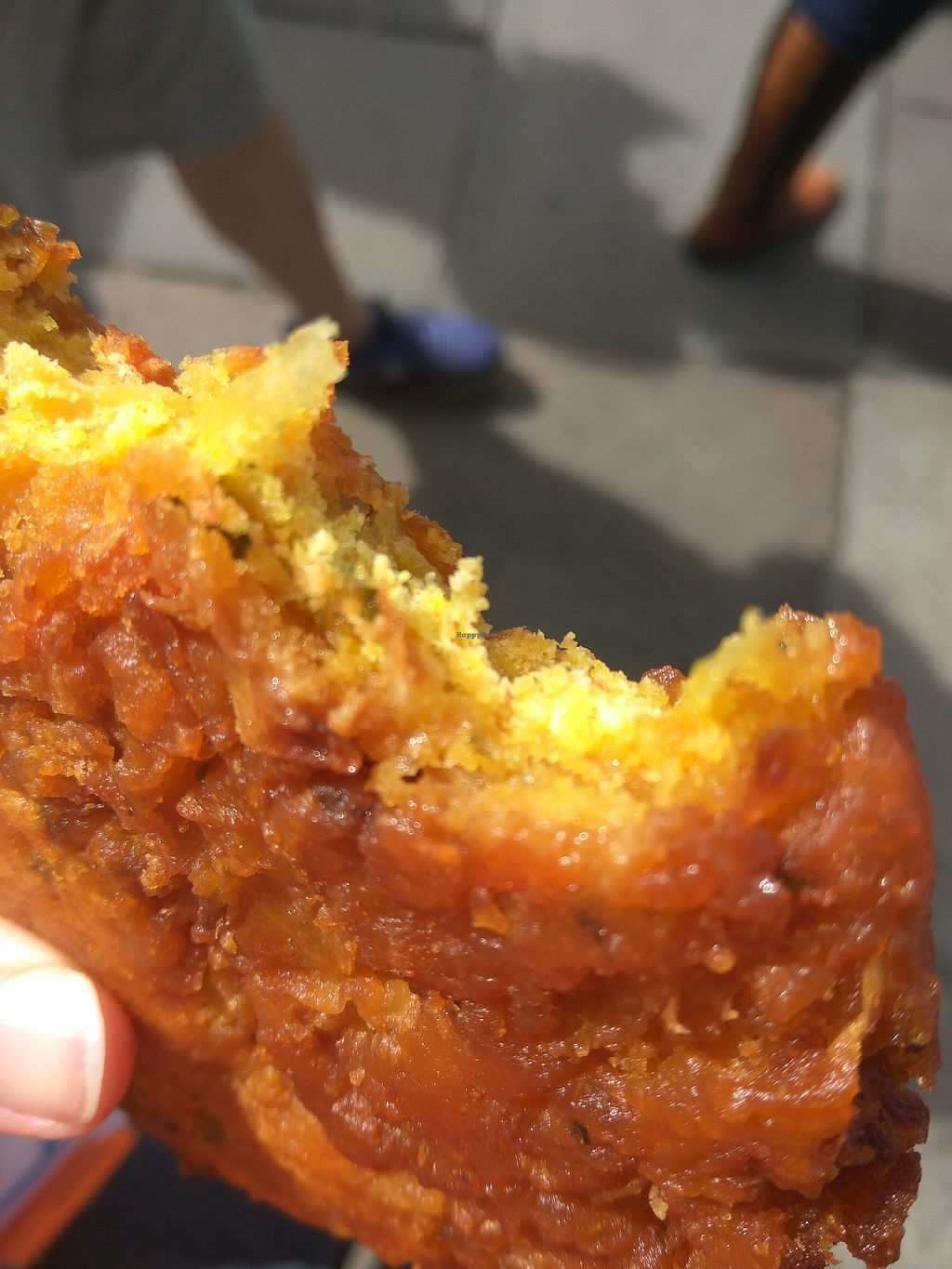 """Photo of Real Foods  by <a href=""""/members/profile/TrixieFirecracker"""">TrixieFirecracker</a> <br/>Onion bhaji - more food for on the go, between Fringe shows <br/> August 7, 2017  - <a href='/contact/abuse/image/1088/290175'>Report</a>"""