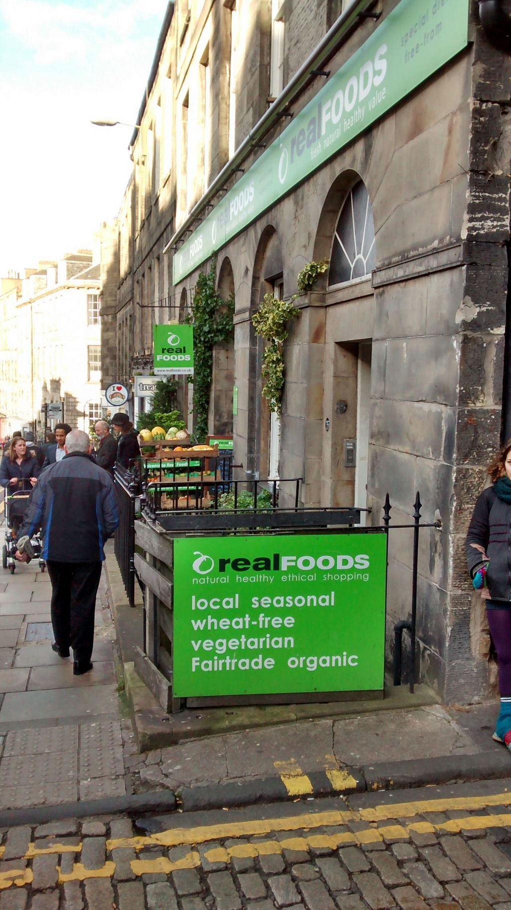 """Photo of Real Foods  by <a href=""""/members/profile/craigmc"""">craigmc</a> <br/>Real foods exterior Broughton Street <br/> February 6, 2014  - <a href='/contact/abuse/image/1088/63789'>Report</a>"""
