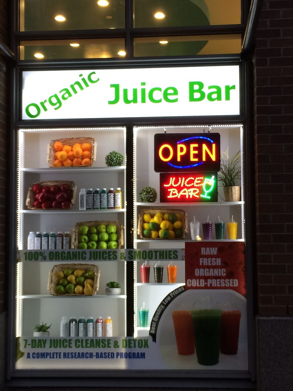 "Photo of Sina Pharmacy & Organic Juice Bar  by <a href=""/members/profile/Mdrutz"">Mdrutz</a> <br/>Juice bar window <br/> January 7, 2018  - <a href='/contact/abuse/image/108909/344070'>Report</a>"