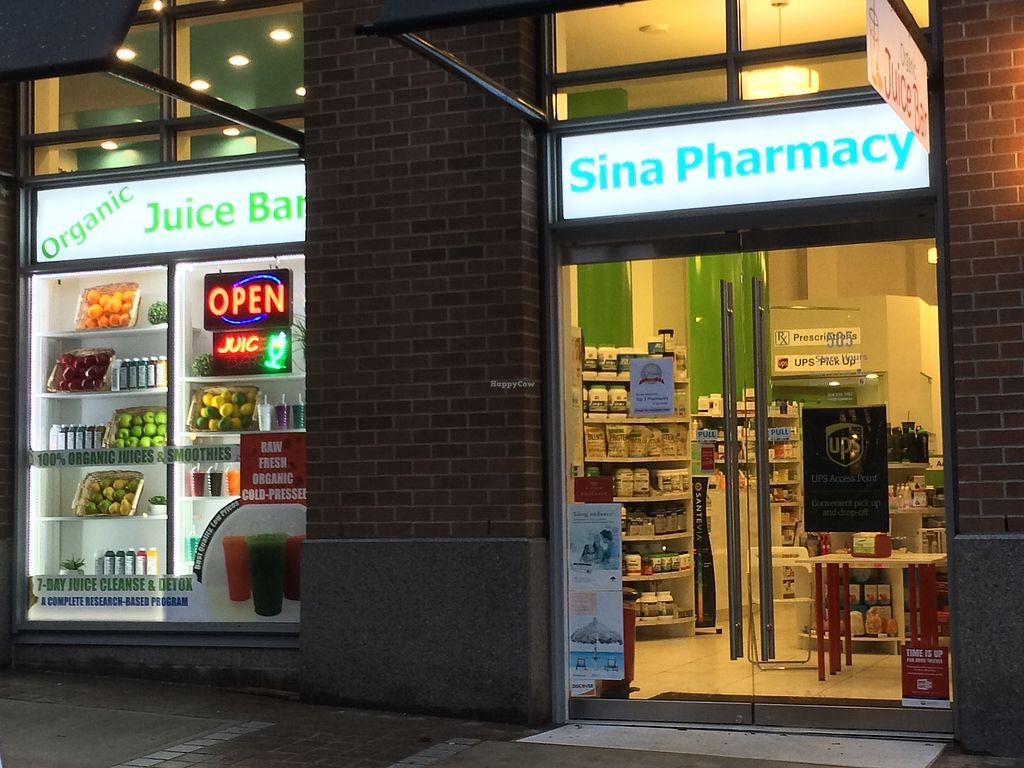 "Photo of Sina Pharmacy & Organic Juice Bar  by <a href=""/members/profile/Mdrutz"">Mdrutz</a> <br/>Smithe St store front <br/> January 7, 2018  - <a href='/contact/abuse/image/108909/344072'>Report</a>"