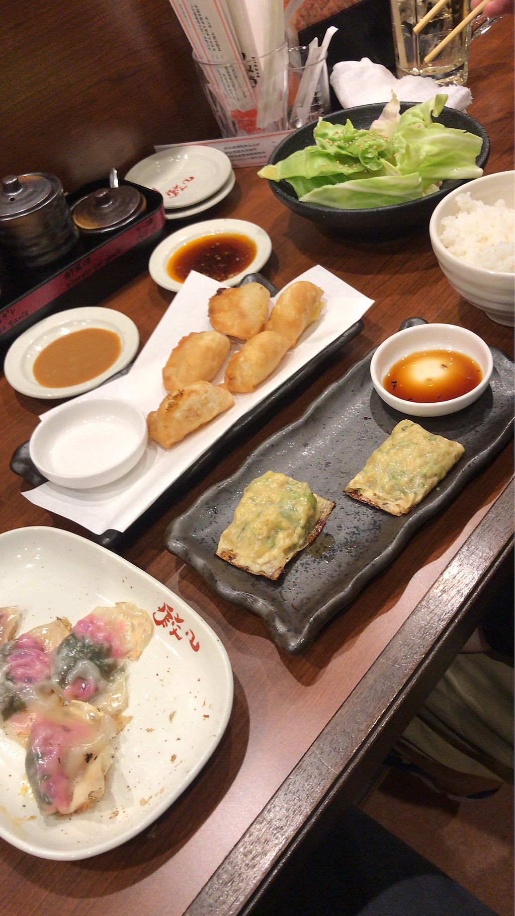 "Photo of Chao Chao Gyoza Shijo-Kawaramachi  by <a href=""/members/profile/MelissaW"">MelissaW</a> <br/>Three vegan gyoza  <br/> February 4, 2018  - <a href='/contact/abuse/image/108953/354814'>Report</a>"