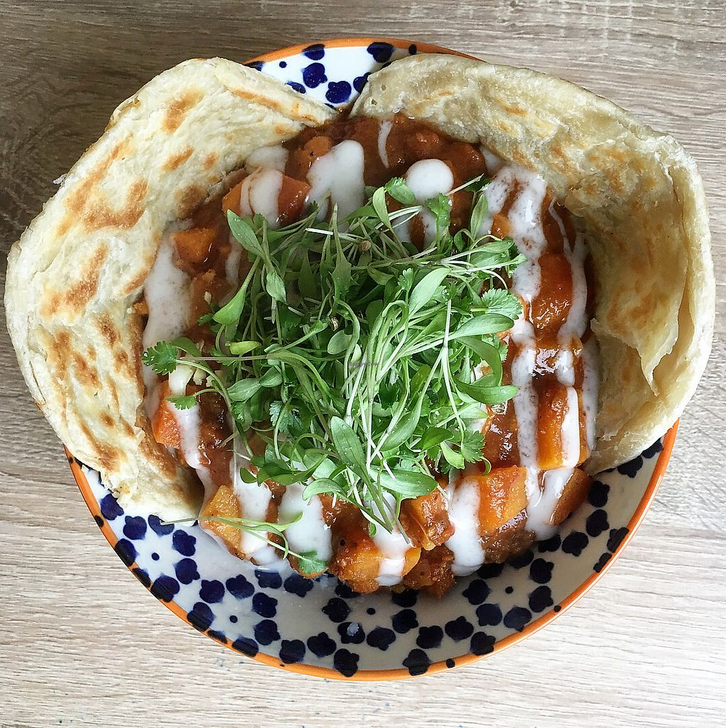 """Photo of BBVegan  by <a href=""""/members/profile/BBV"""">BBV</a> <br/>Lentil,sweet potato and chickpea madras with mash and paratha <br/> January 8, 2018  - <a href='/contact/abuse/image/108968/344280'>Report</a>"""