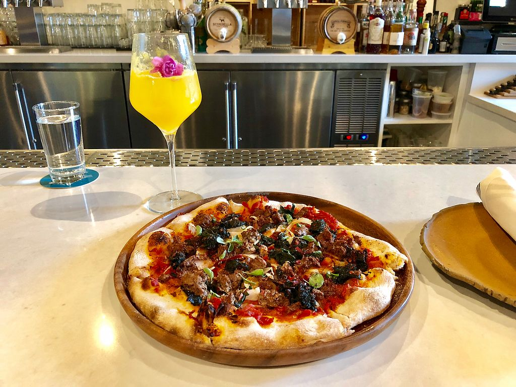"""Photo of Vina Enoteca  by <a href=""""/members/profile/simguy05"""">simguy05</a> <br/>Impossible Pizza and Mimosa <br/> January 8, 2018  - <a href='/contact/abuse/image/108971/344377'>Report</a>"""