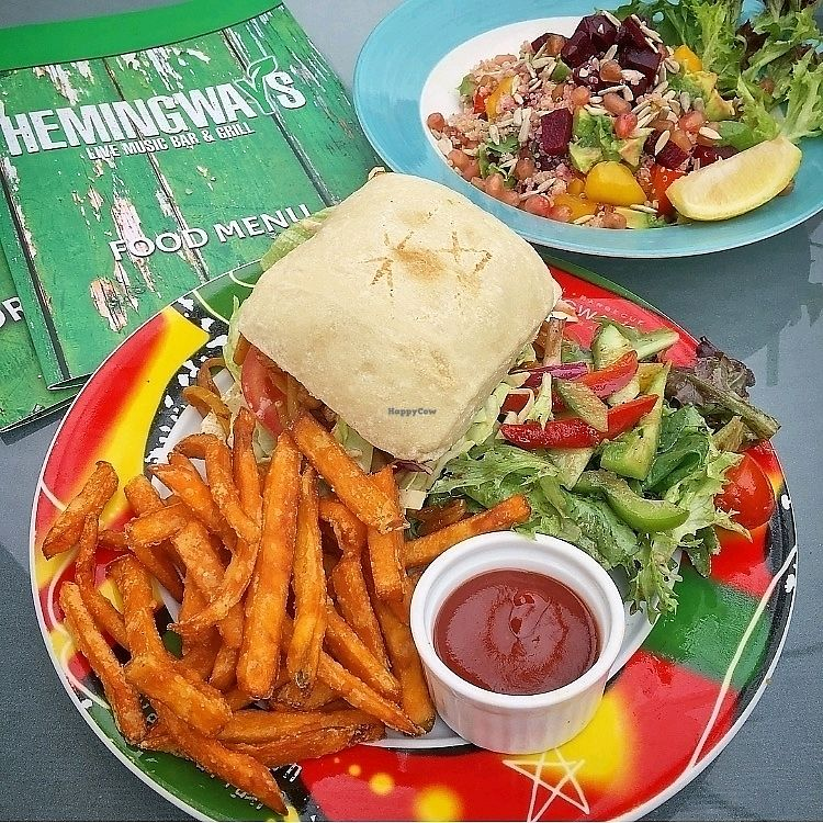 "Photo of Hemingway's By The Bay  by <a href=""/members/profile/VeganjourneyHK"">VeganjourneyHK</a> <br/>BBQ Jackfruit Burger <br/> February 18, 2018  - <a href='/contact/abuse/image/108974/360791'>Report</a>"