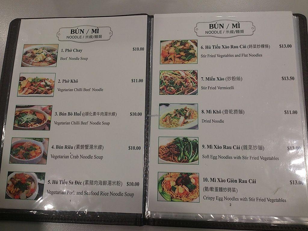 "Photo of Hoa Nghiem Vegie Hut  by <a href=""/members/profile/vegelover"">vegelover</a> <br/>Menu og Hoa Nghiem Vegie Hut <br/> January 8, 2018  - <a href='/contact/abuse/image/108975/344230'>Report</a>"
