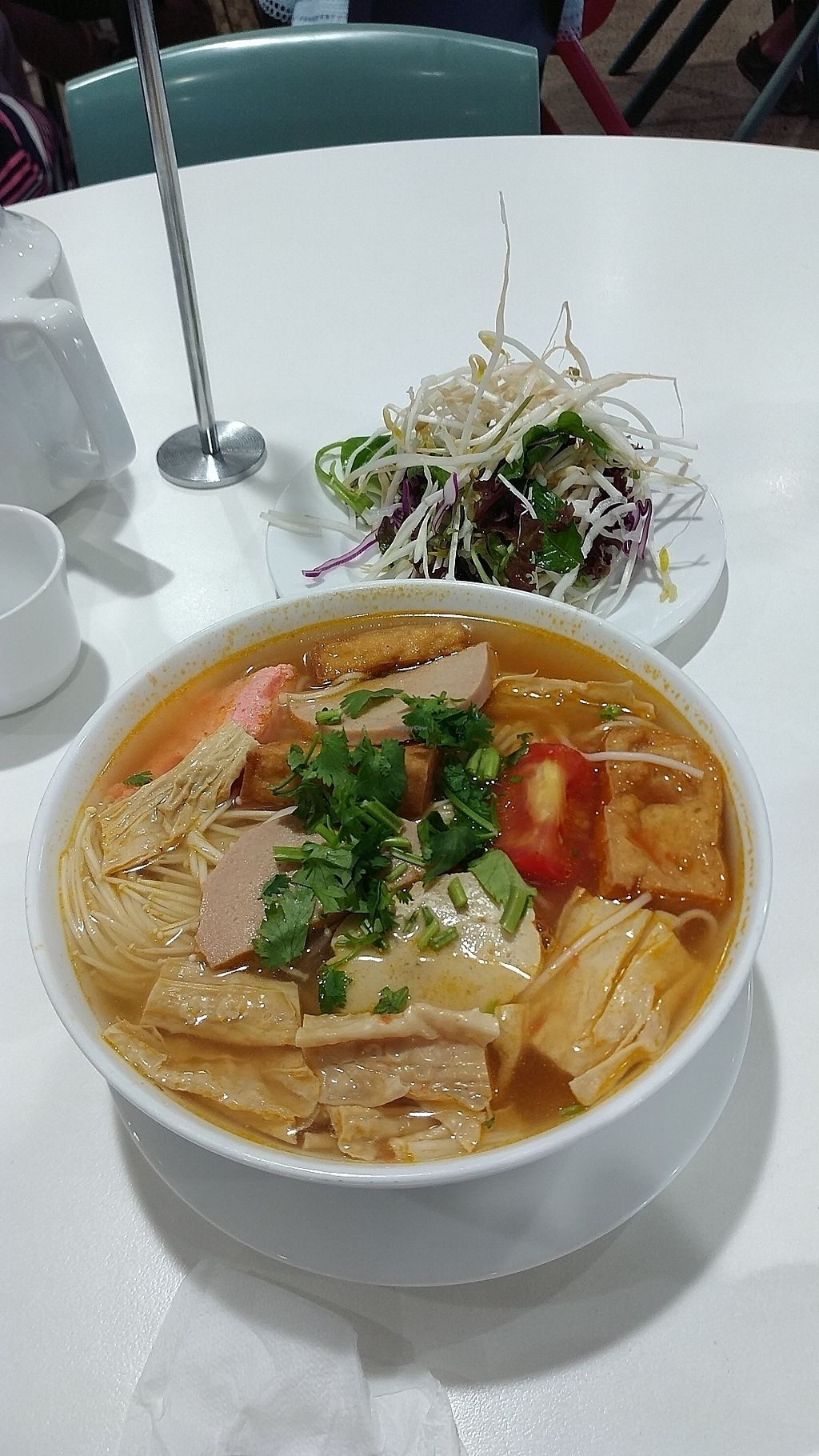 """Photo of Hoa Nghiem Vegie Hut  by <a href=""""/members/profile/vegelover"""">vegelover</a> <br/>Vegetarian Crab Noodle Soup <br/> January 27, 2018  - <a href='/contact/abuse/image/108975/351276'>Report</a>"""