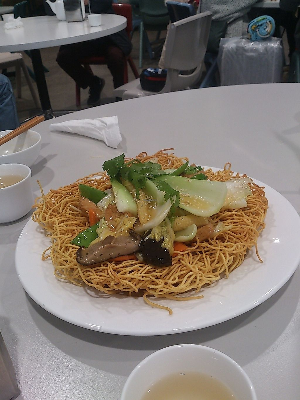 """Photo of Hoa Nghiem Vegie Hut  by <a href=""""/members/profile/vegelover"""">vegelover</a> <br/>Crispy Egg Noodles With Stir Fry Vegetables <br/> January 27, 2018  - <a href='/contact/abuse/image/108975/351281'>Report</a>"""
