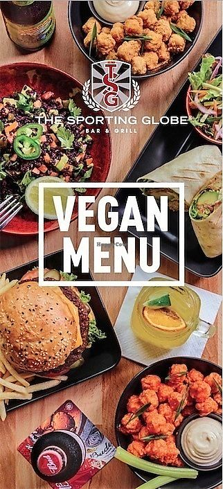 """Photo of The Sporting Globe  by <a href=""""/members/profile/Herbivoracious"""">Herbivoracious</a> <br/>Vegan menu @Sporting Globe Richmond <br/> January 9, 2018  - <a href='/contact/abuse/image/108979/344841'>Report</a>"""