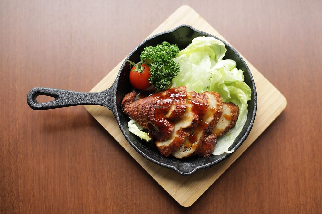 """Photo of Veggie House  by <a href=""""/members/profile/Veggie_House"""">Veggie_House</a> <br/>Dinner A La Carte Roast soy-chicken <br/> January 16, 2018  - <a href='/contact/abuse/image/108984/347132'>Report</a>"""