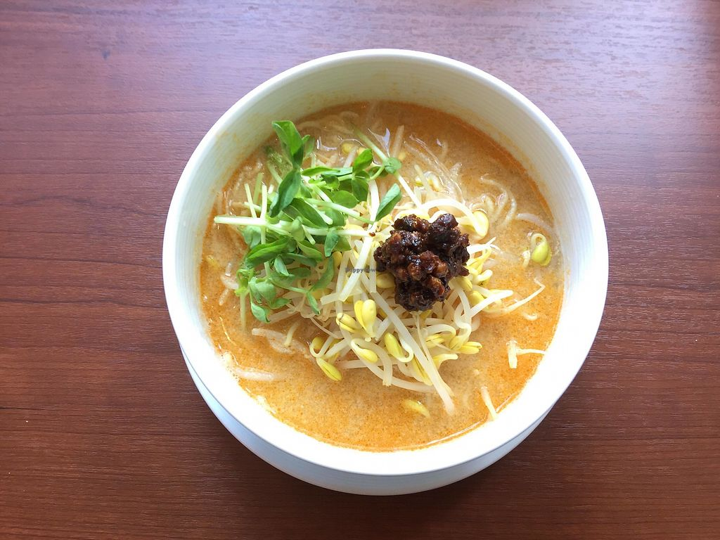 """Photo of Veggie House  by <a href=""""/members/profile/Veggie_House"""">Veggie_House</a> <br/>A La Carte: Our recommendation!! Vegan Tantan-noodles <br/> January 16, 2018  - <a href='/contact/abuse/image/108984/347146'>Report</a>"""