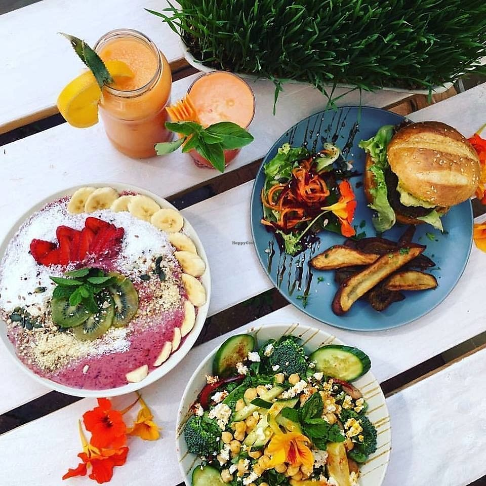 """Photo of Sajuiced Wellness Cafe  by <a href=""""/members/profile/ByronHorstBraun"""">ByronHorstBraun</a> <br/>Sajuiced Wellness Cafe offers a wide range of Vegan & Vegetarian meals, Superfood Juices and Superfood Smoothies. Locally sourced organic veggies and herbs Superfoods Meals are prepared on order to ensure the best of freshness <br/> January 22, 2018  - <a href='/contact/abuse/image/109082/349816'>Report</a>"""