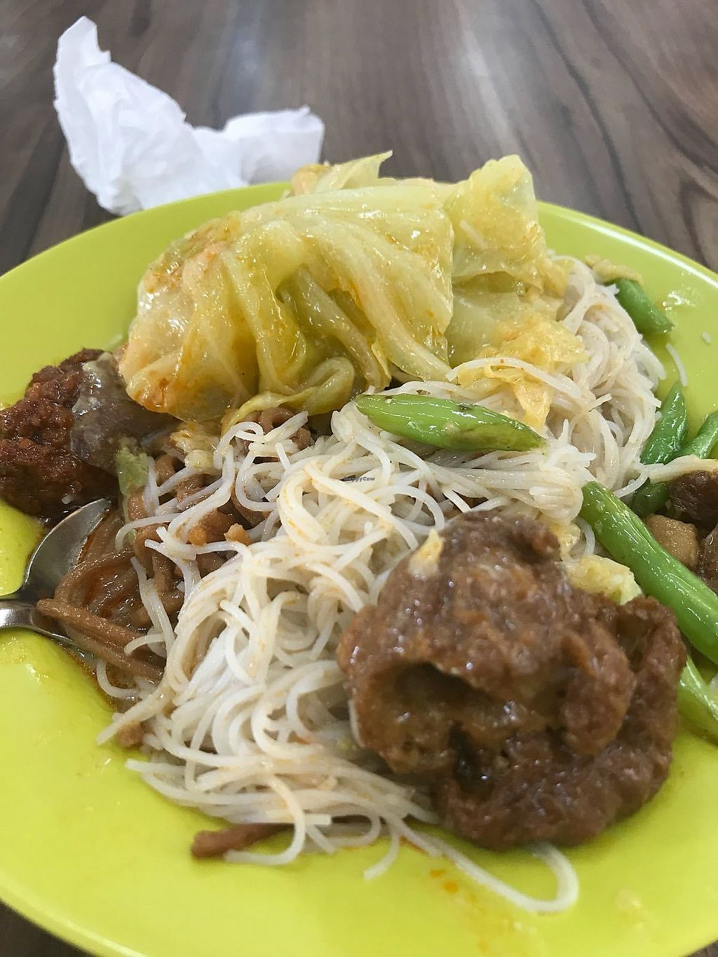 """Photo of Vegetarian Stall  by <a href=""""/members/profile/JimmySeah"""">JimmySeah</a> <br/>economic bee hoon with vegetables curry photos credits to veggietemptation sg <br/> January 10, 2018  - <a href='/contact/abuse/image/109084/345034'>Report</a>"""