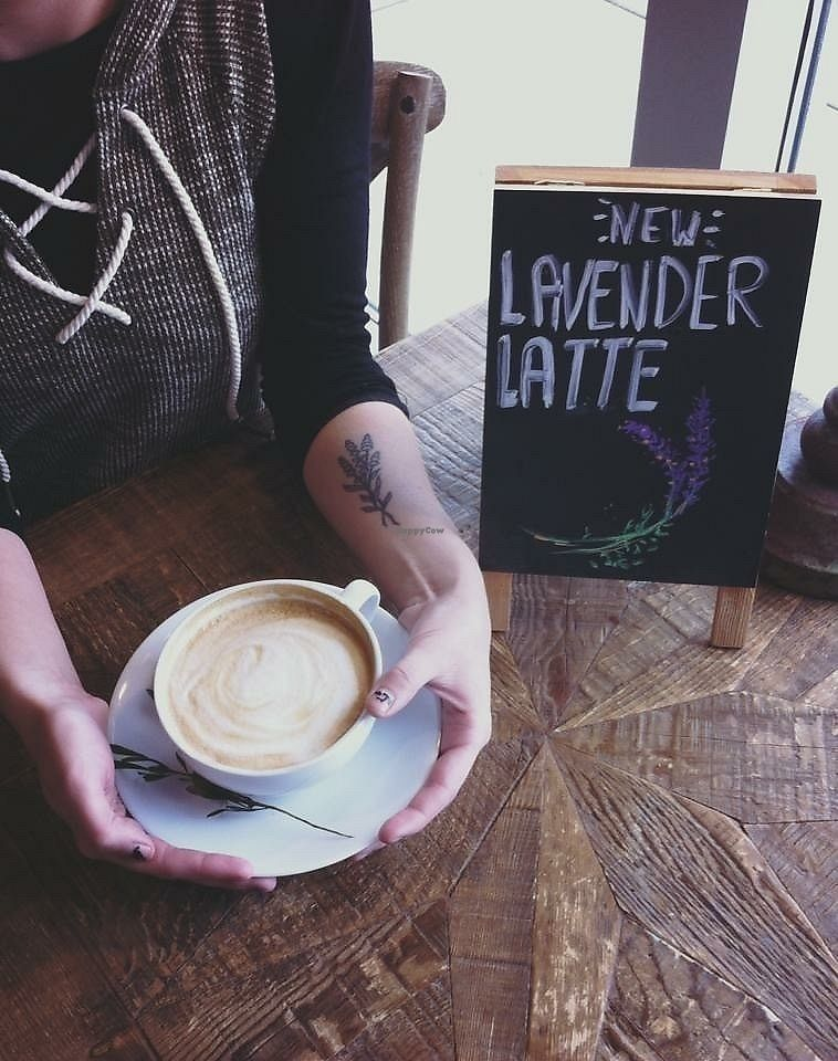 """Photo of Uncommon Grounds  by <a href=""""/members/profile/shellxvictoria"""">shellxvictoria</a> <br/>Lavender latte <br/> February 14, 2018  - <a href='/contact/abuse/image/109085/359453'>Report</a>"""