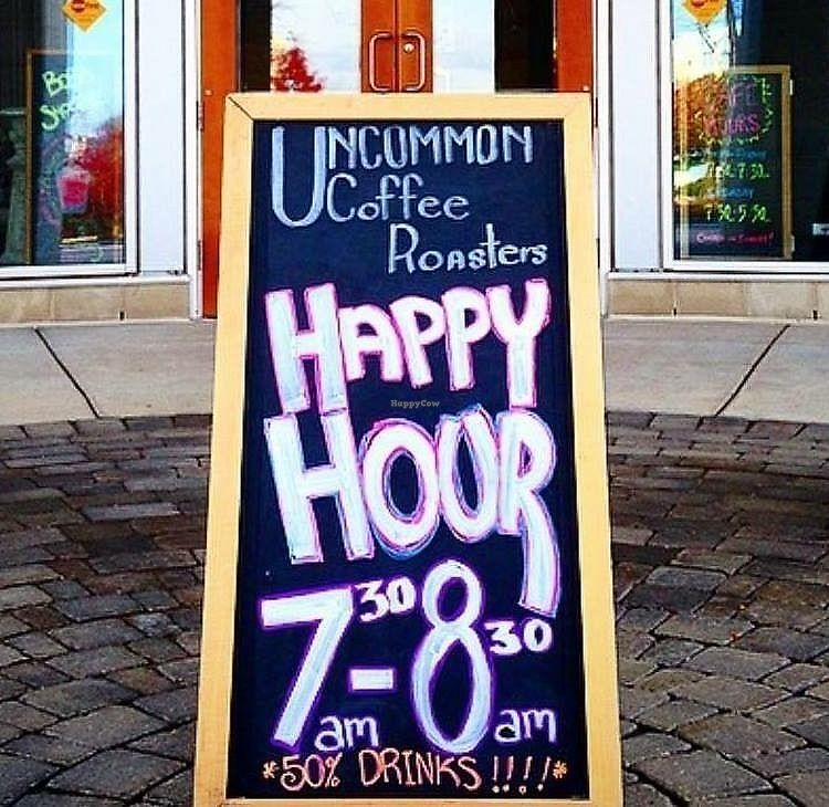 """Photo of Uncommon Grounds  by <a href=""""/members/profile/shellxvictoria"""">shellxvictoria</a> <br/>Happy Hour 7:30am-8:30am 50% off drinks <br/> February 14, 2018  - <a href='/contact/abuse/image/109085/359455'>Report</a>"""