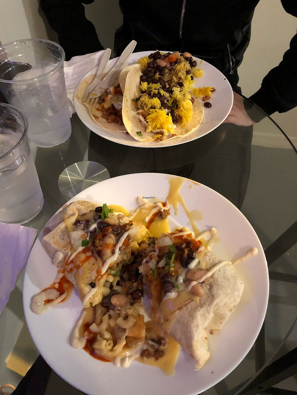 """Photo of Wildflower Vegan Co. Featuring Burnamup  by <a href=""""/members/profile/AmandaBrody"""">AmandaBrody</a> <br/>Smothered Chili Mac Burrito and Dos Tacos <br/> January 16, 2018  - <a href='/contact/abuse/image/109093/347055'>Report</a>"""
