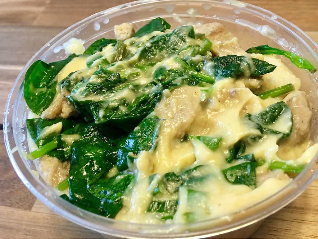 """Photo of Wildflower Vegan Co. Featuring Burnamup  by <a href=""""/members/profile/myra975"""">myra975</a> <br/>Cheesy Grits w/Chick*n & Veggies ($11.50) <br/> January 16, 2018  - <a href='/contact/abuse/image/109093/347323'>Report</a>"""