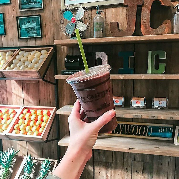 """Photo of Juice Crafters  by <a href=""""/members/profile/JuiceCrafters"""">JuiceCrafters</a> <br/>FOUNTAIN OF YOUTH – strawberries, blueberries, goji berries, coconut H2O, banana, cacao powder, maca & agave <br/> January 10, 2018  - <a href='/contact/abuse/image/109103/345207'>Report</a>"""