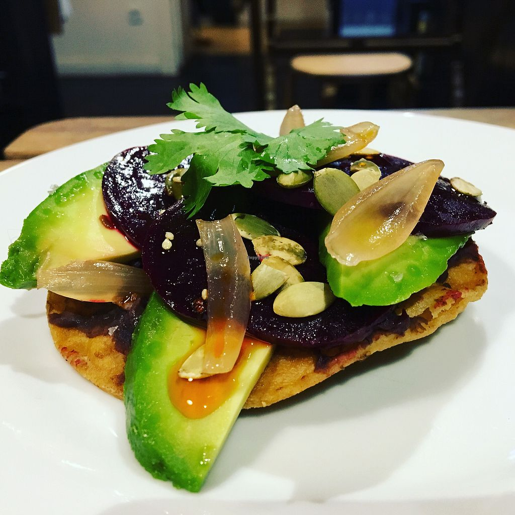 """Photo of Crazy Bastard  by <a href=""""/members/profile/JonoReilly"""">JonoReilly</a> <br/>Avocado & Beetroot tostada <br/> January 10, 2018  - <a href='/contact/abuse/image/109113/345008'>Report</a>"""