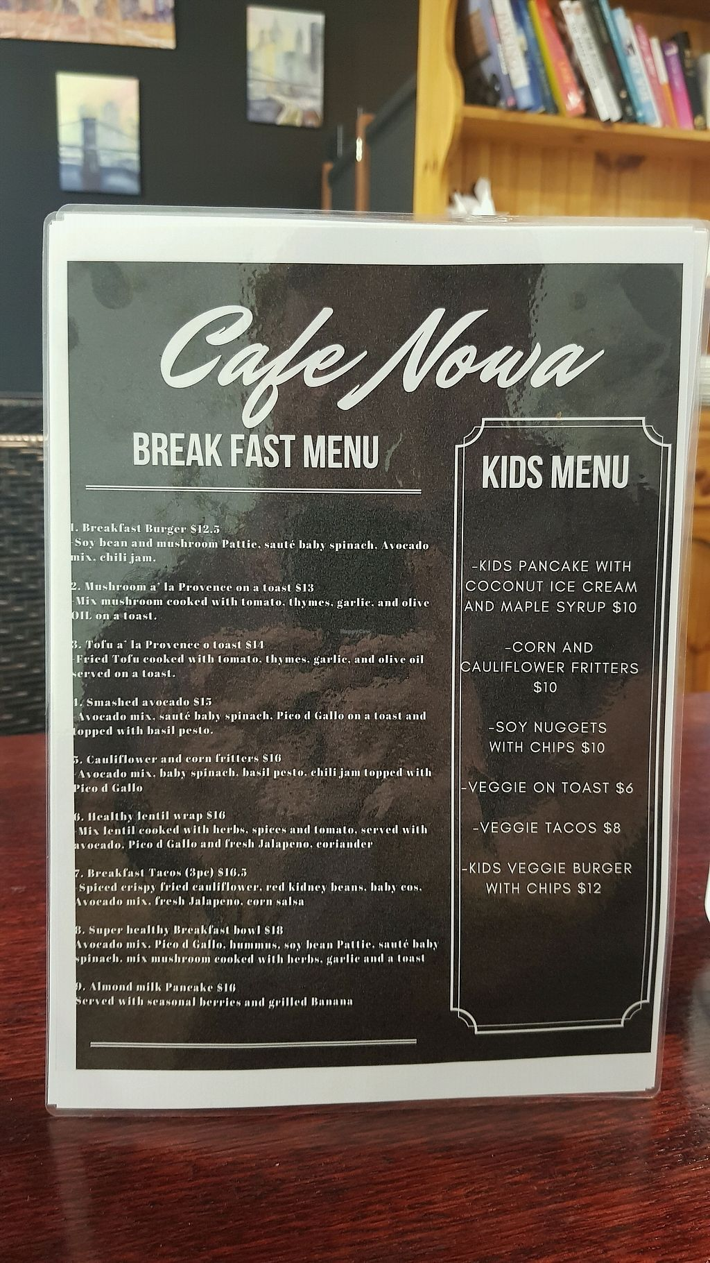 "Photo of Cafe Nowa  by <a href=""/members/profile/JamieGiblett"">JamieGiblett</a> <br/>Breakfast menu <br/> January 10, 2018  - <a href='/contact/abuse/image/109117/344948'>Report</a>"