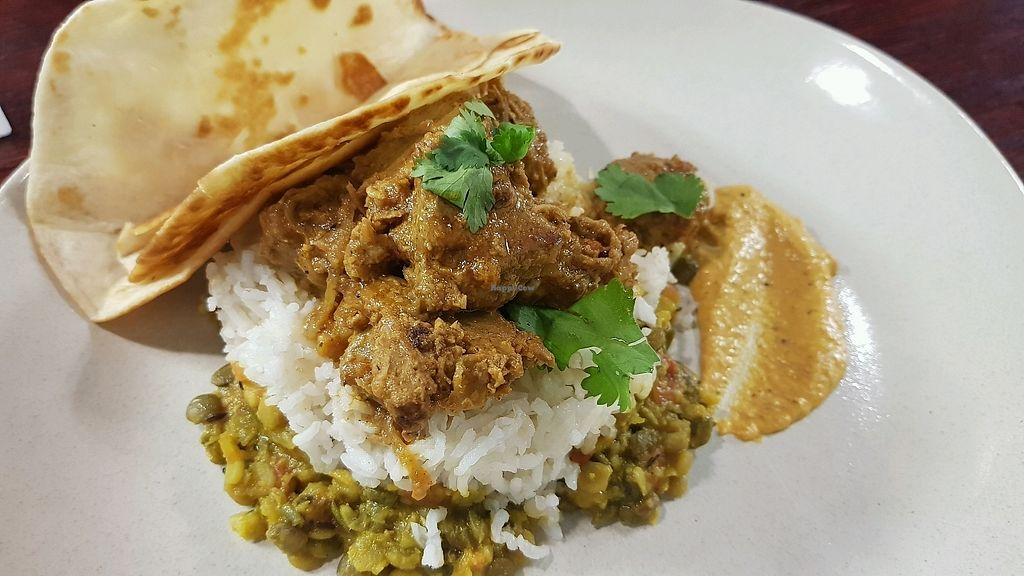 "Photo of Cafe Nowa  by <a href=""/members/profile/JamieGiblett"">JamieGiblett</a> <br/>vegan lamb curry  <br/> January 10, 2018  - <a href='/contact/abuse/image/109117/344952'>Report</a>"