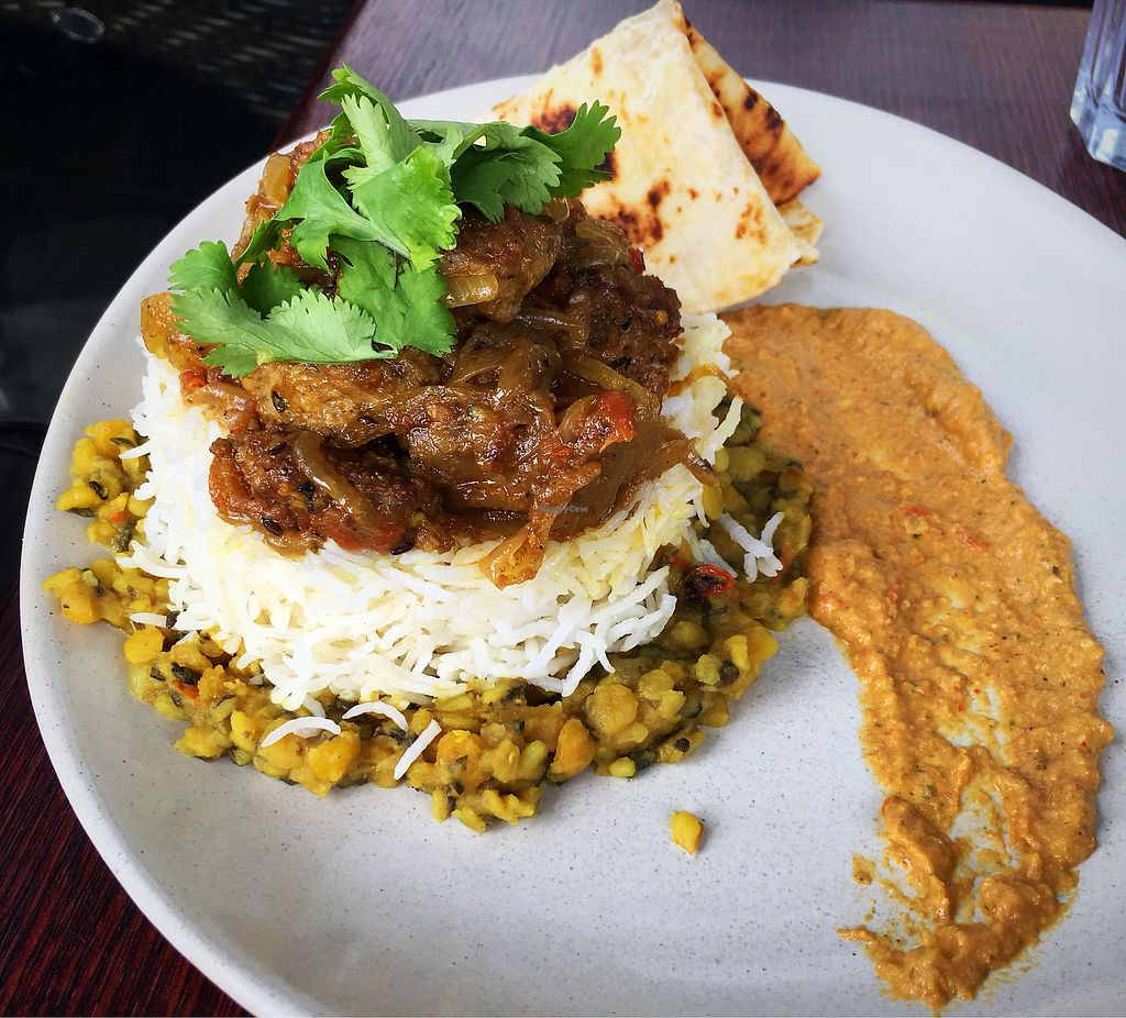 "Photo of Cafe Nowa  by <a href=""/members/profile/Mslanei"">Mslanei</a> <br/>Vegan Lamb curry <br/> January 24, 2018  - <a href='/contact/abuse/image/109117/350344'>Report</a>"