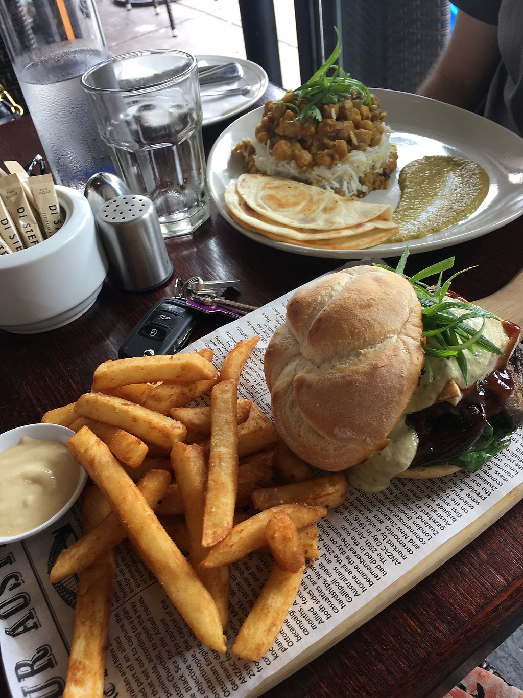 "Photo of Cafe Nowa  by <a href=""/members/profile/Emmiu"">Emmiu</a> <br/>Tofu and eggplant burger & tofu and chickpea curry  <br/> March 4, 2018  - <a href='/contact/abuse/image/109117/366417'>Report</a>"