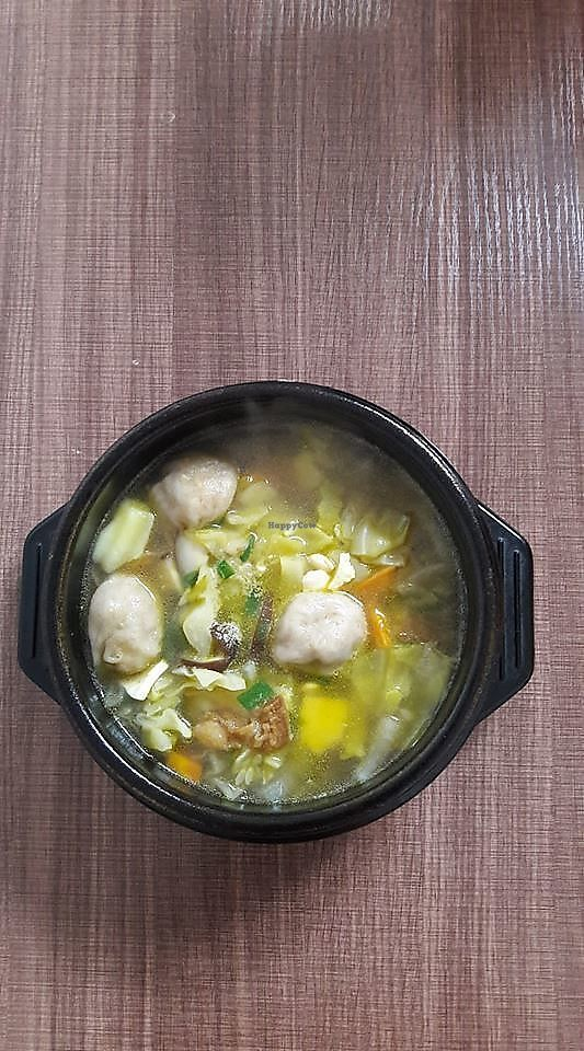 """Photo of Okay Vegan Cafe  by <a href=""""/members/profile/BlankaC"""">BlankaC</a> <br/>Dumpling soup <br/> January 10, 2018  - <a href='/contact/abuse/image/109124/344901'>Report</a>"""