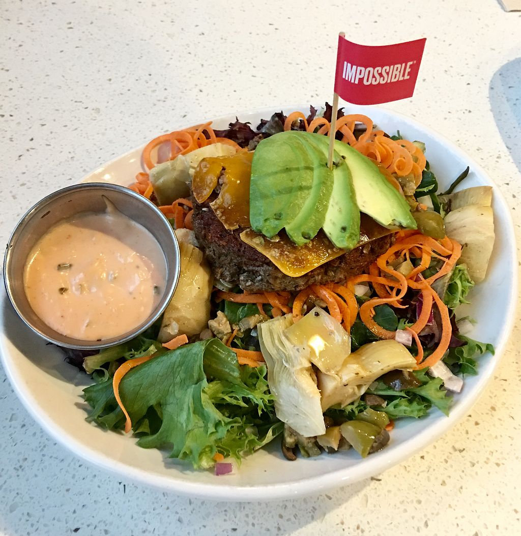 """Photo of The Counter  by <a href=""""/members/profile/ChereseTarter"""">ChereseTarter</a> <br/>Impossible Burger Salad <br/> March 22, 2018  - <a href='/contact/abuse/image/109160/374138'>Report</a>"""