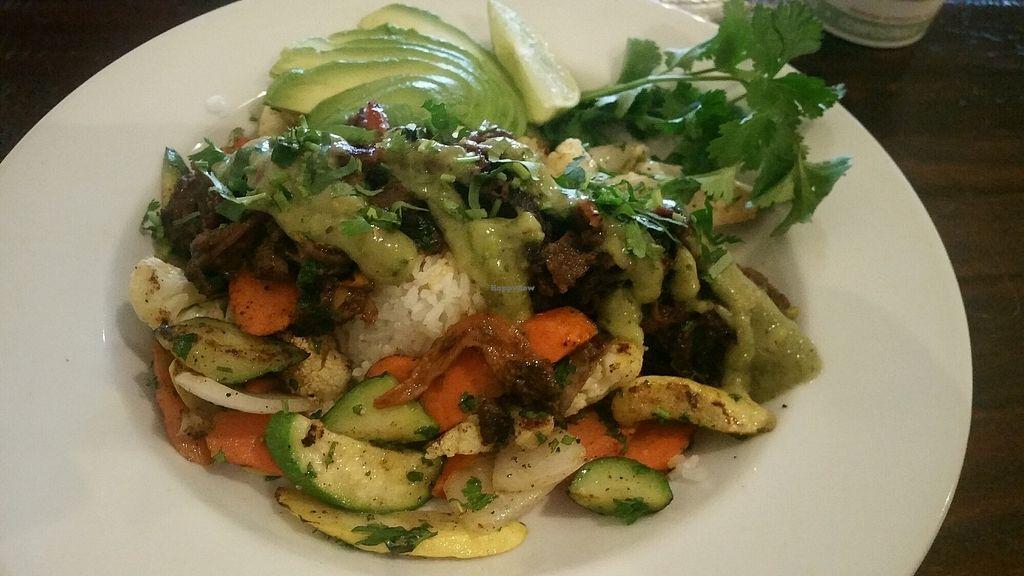 """Photo of Backbone Cafe  by <a href=""""/members/profile/Veganviajes"""">Veganviajes</a> <br/>Vegan Power Bowl! <br/> January 13, 2018  - <a href='/contact/abuse/image/109206/346210'>Report</a>"""