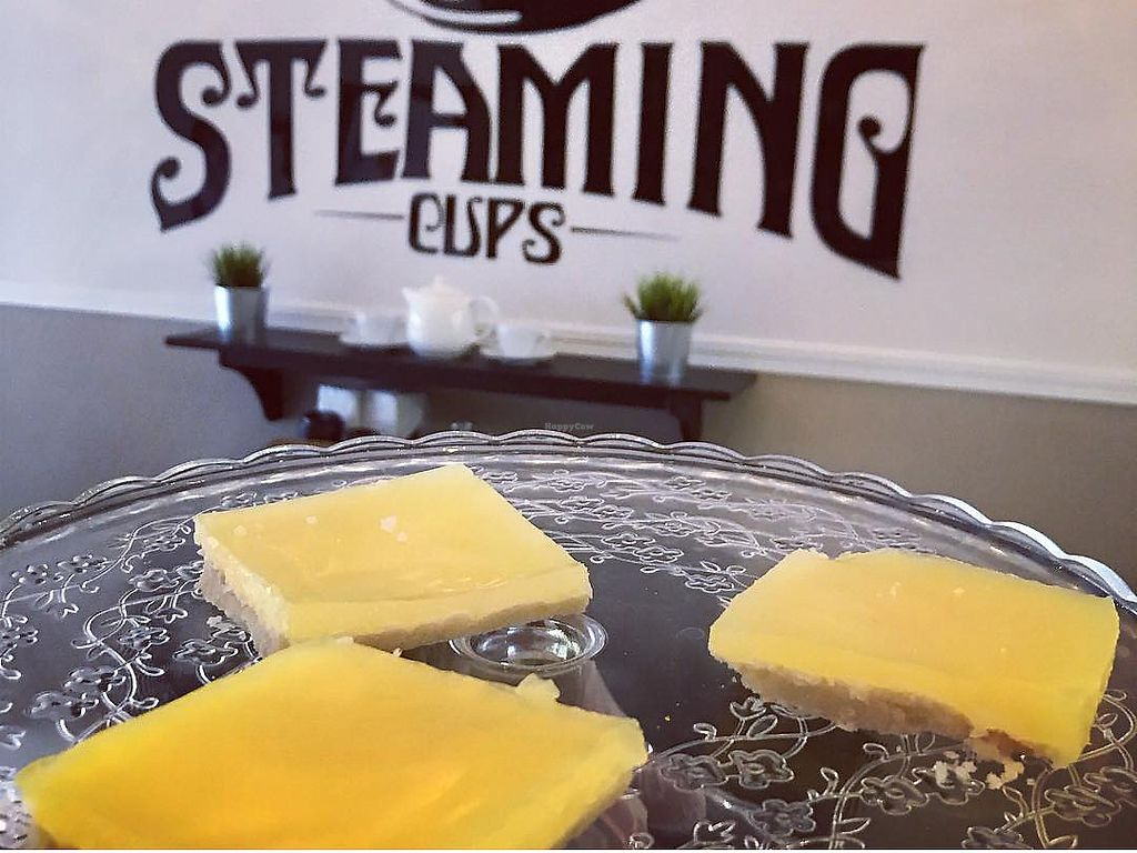 """Photo of Steaming Cups Cafe  by <a href=""""/members/profile/LiahMullins"""">LiahMullins</a> <br/>Vegan Lemon squares  <br/> January 13, 2018  - <a href='/contact/abuse/image/109236/346218'>Report</a>"""