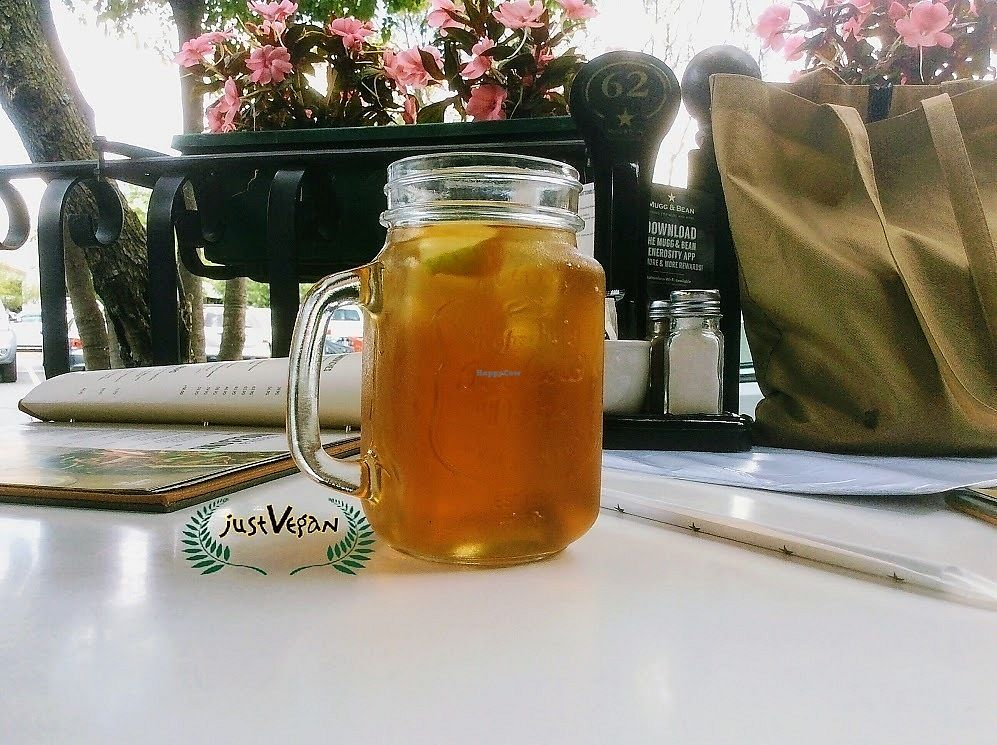"""Photo of Mugg and Bean  by <a href=""""/members/profile/%C5%A0%C3%A1rkaHedstr%C3%B6m"""">ŠárkaHedström</a> <br/>Sugar free apple & gooseberry ice tea, deliciously refreshing, lovely relaxing outside section. Lovely working environment for us workaholics, WiFi is available.    <br/> January 12, 2018  - <a href='/contact/abuse/image/109238/345836'>Report</a>"""