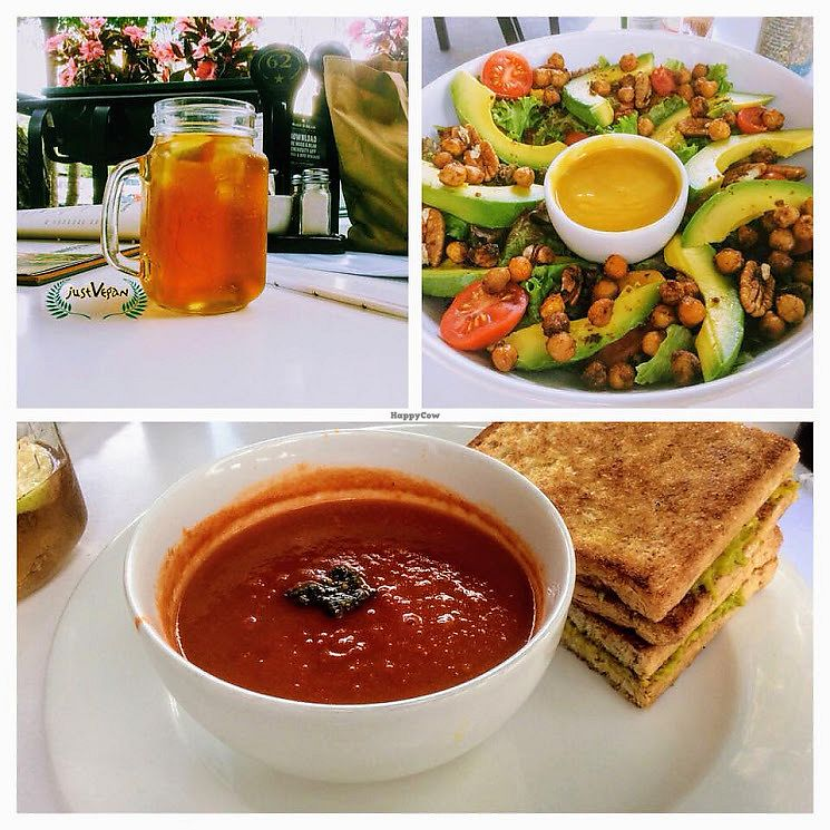 """Photo of Mugg and Bean  by <a href=""""/members/profile/%C5%A0%C3%A1rkaHedstr%C3%B6m"""">ŠárkaHedström</a> <br/>Vegetarian tomato soup is magically transformed to a vegan dish without the cream. Chef swapped out the mozzarella for avo and toasted with olive oil. Lovely!  <br/> January 12, 2018  - <a href='/contact/abuse/image/109238/345840'>Report</a>"""