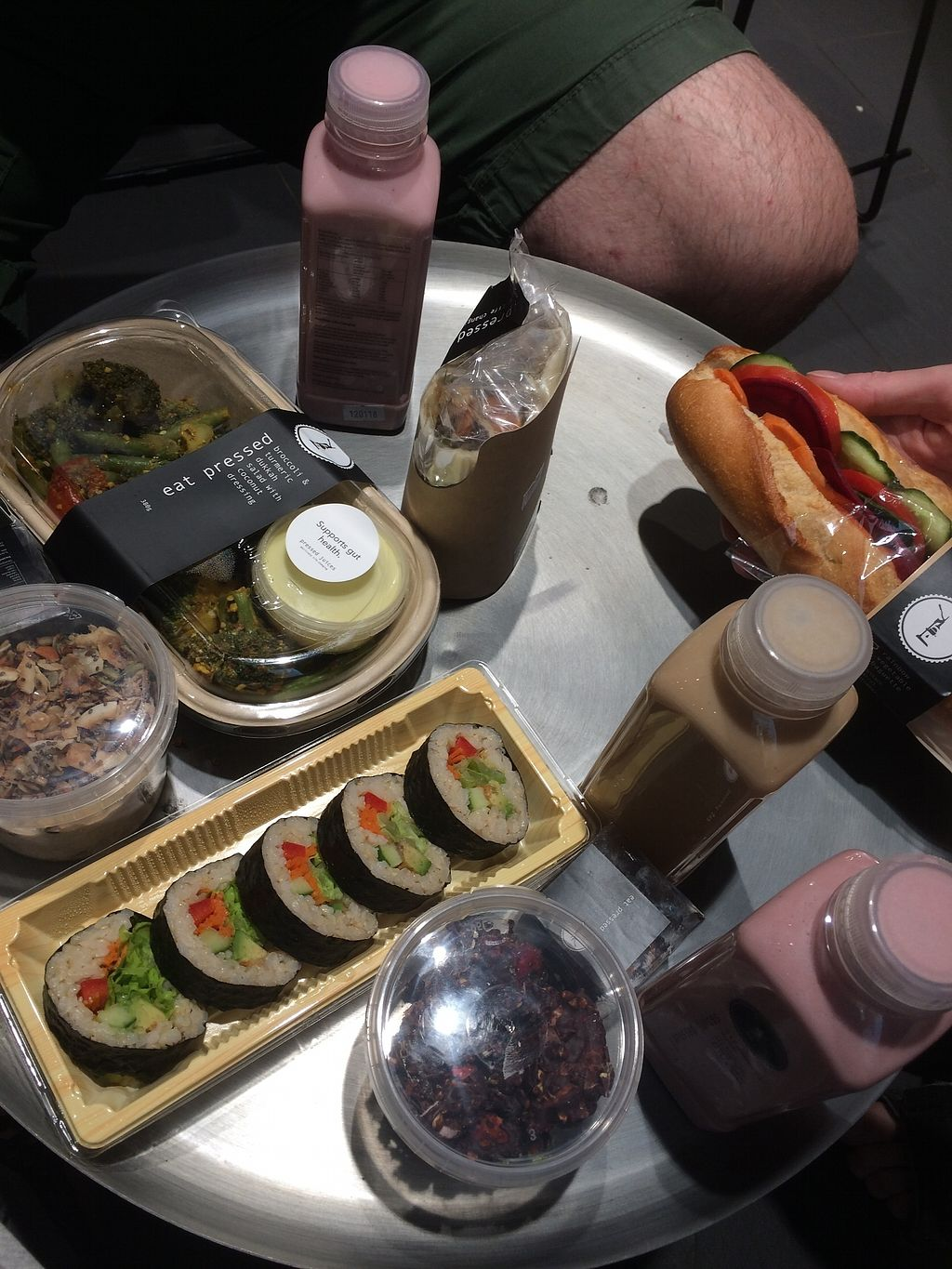 """Photo of Pressed Juices - Airport  by <a href=""""/members/profile/alia_801"""">alia_801</a> <br/>Sushi, salad, wrap, mylk shakes, vegan baguette and chocolate treats <br/> January 12, 2018  - <a href='/contact/abuse/image/109245/345880'>Report</a>"""